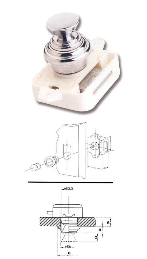 Porta scopino in acciaio satinato a parete marin acb3540 - Serratura porta scorrevole barca ...