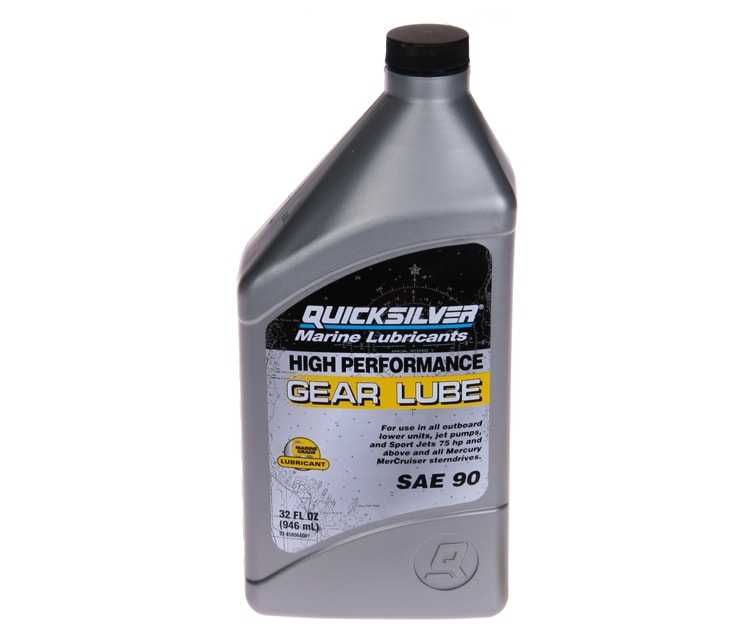 Olio Piede Quicksilver HighPerformance Gear Lube Flacone 946 ml.