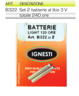 Batterie per Starlight IGNESTI 2 x 3V Litio