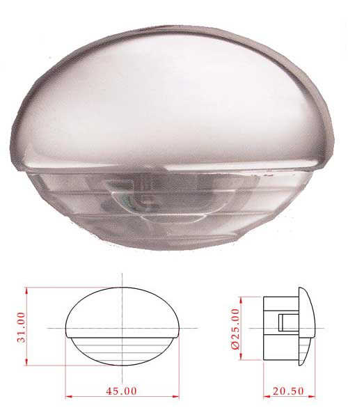 Luce di cortesia a led 12 v l4400189 6 84 barca for Luci al led