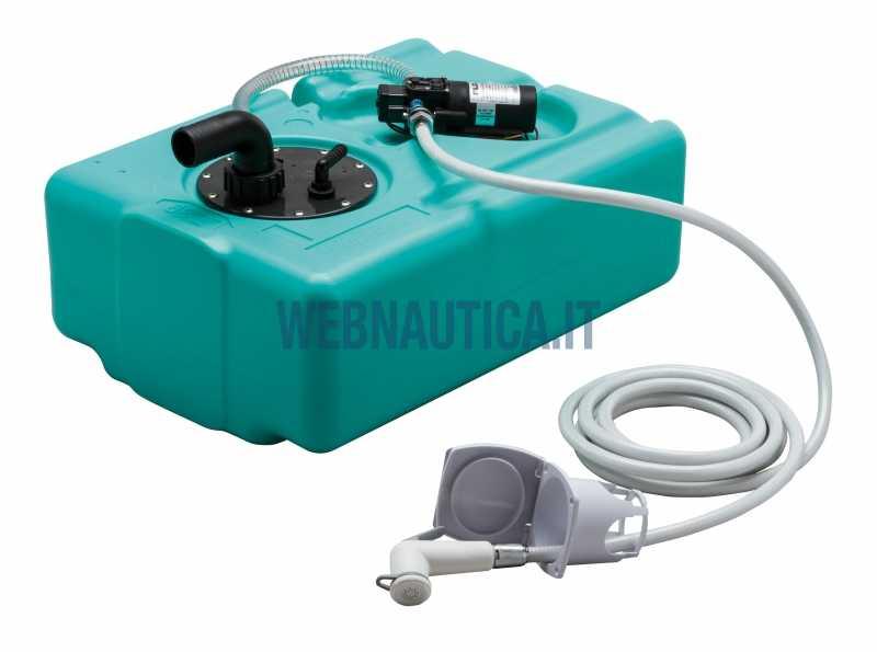 Serbatoio acqua completo di doccia e pompa autoclave for Doccetta barca