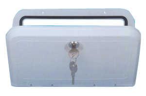 Sportello con serratura bianco mm 285x165 2523940 24 - Serratura porta scorrevole barca ...